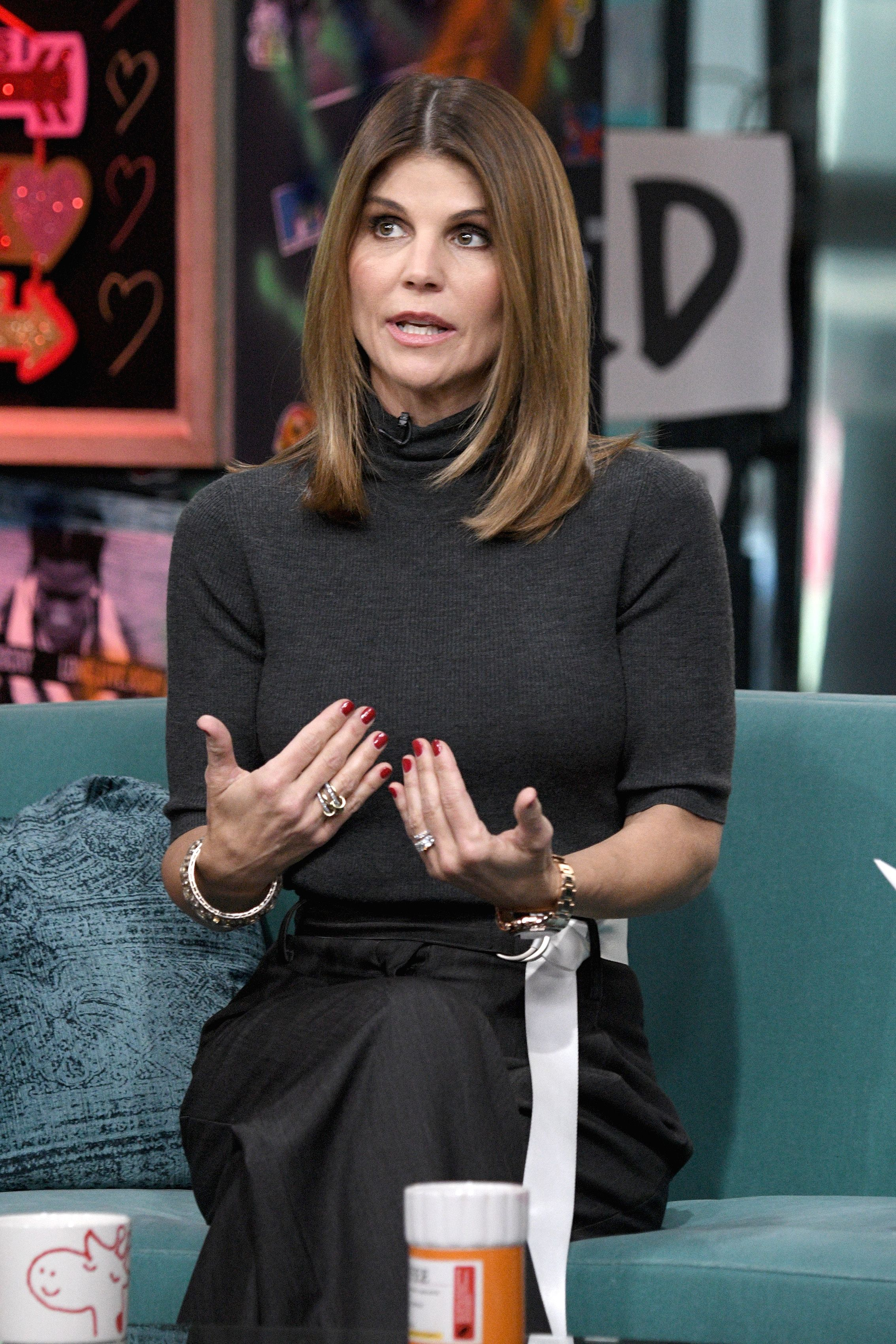 Actress Lori Loughlin visits the Build Brunch to discuss the Hallmark Channel TV series 'When Calls the Heart' at Build Studio on February 2019 in New York City | Photo: Gary Gershoff/Getty Images