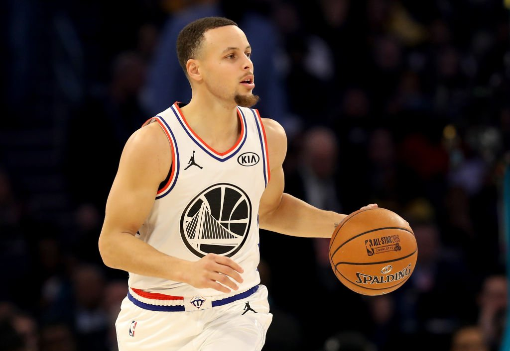 Golden State Warriors player Stephen Curry during the 2019 NBA All-Star Game in North Carolina. | Photo: Getty Images