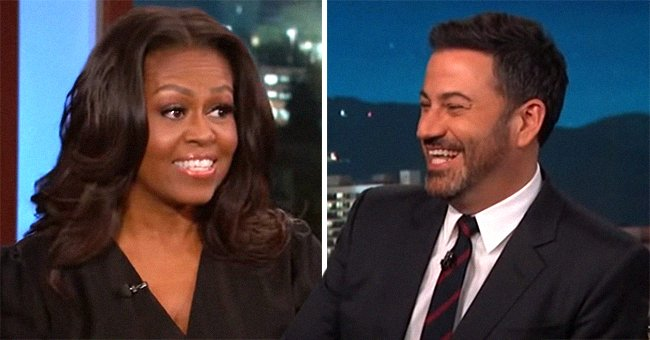 Michelle Obama Tries Encouraging Jimmy Kimmel's Daughter to Eat Vegetables — See Her Reaction
