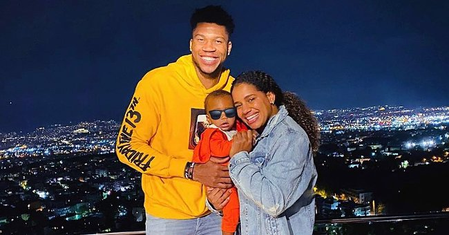 NBA Star Giannis Antetokounmpo Melts Hearts Posing with His Baby & GF Mariah in a Sweet Snap