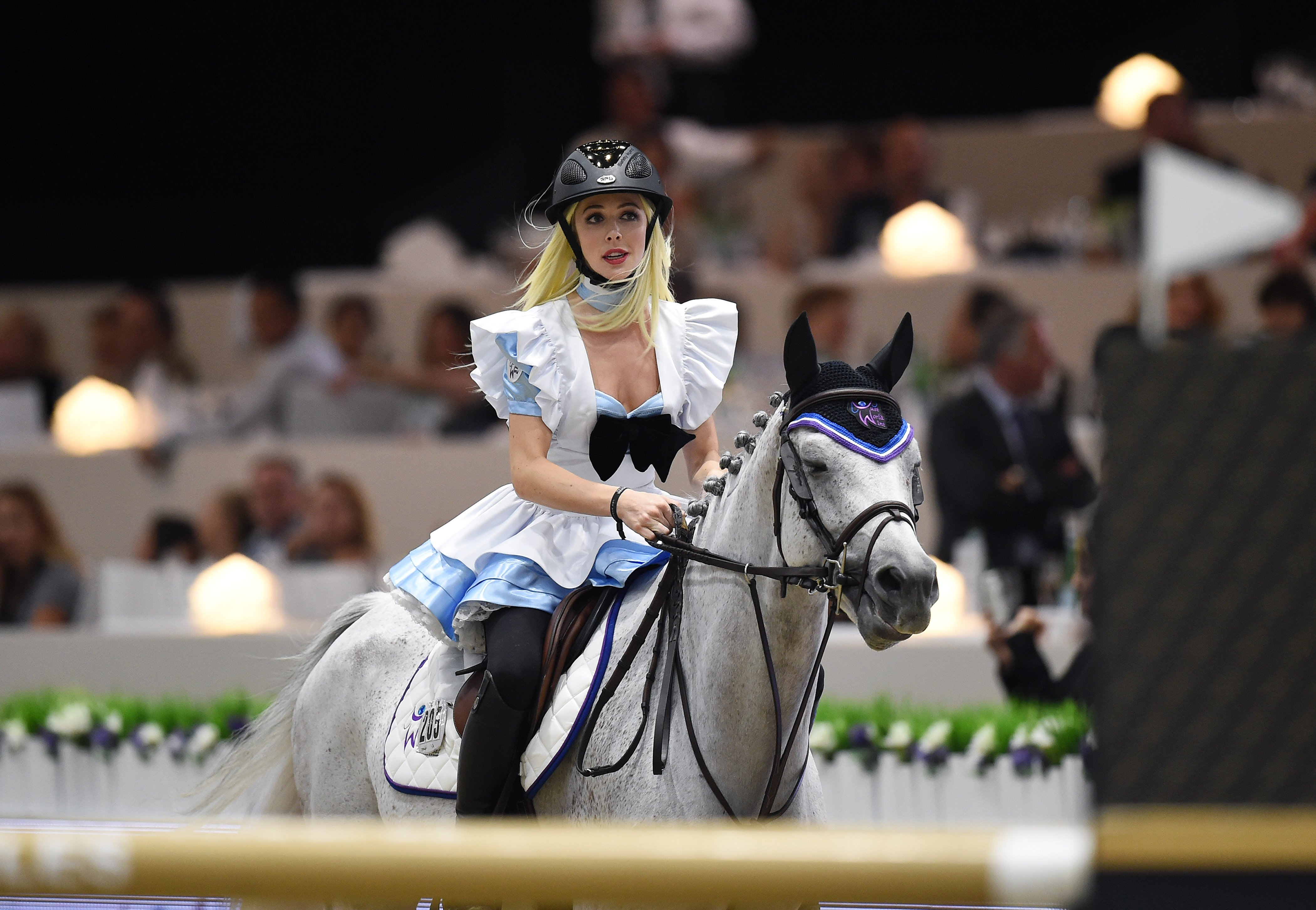 Hannah Selleck participates in the Longines Masters of Los Angeles in California on October 3, 2015 | Photo: Getty Images