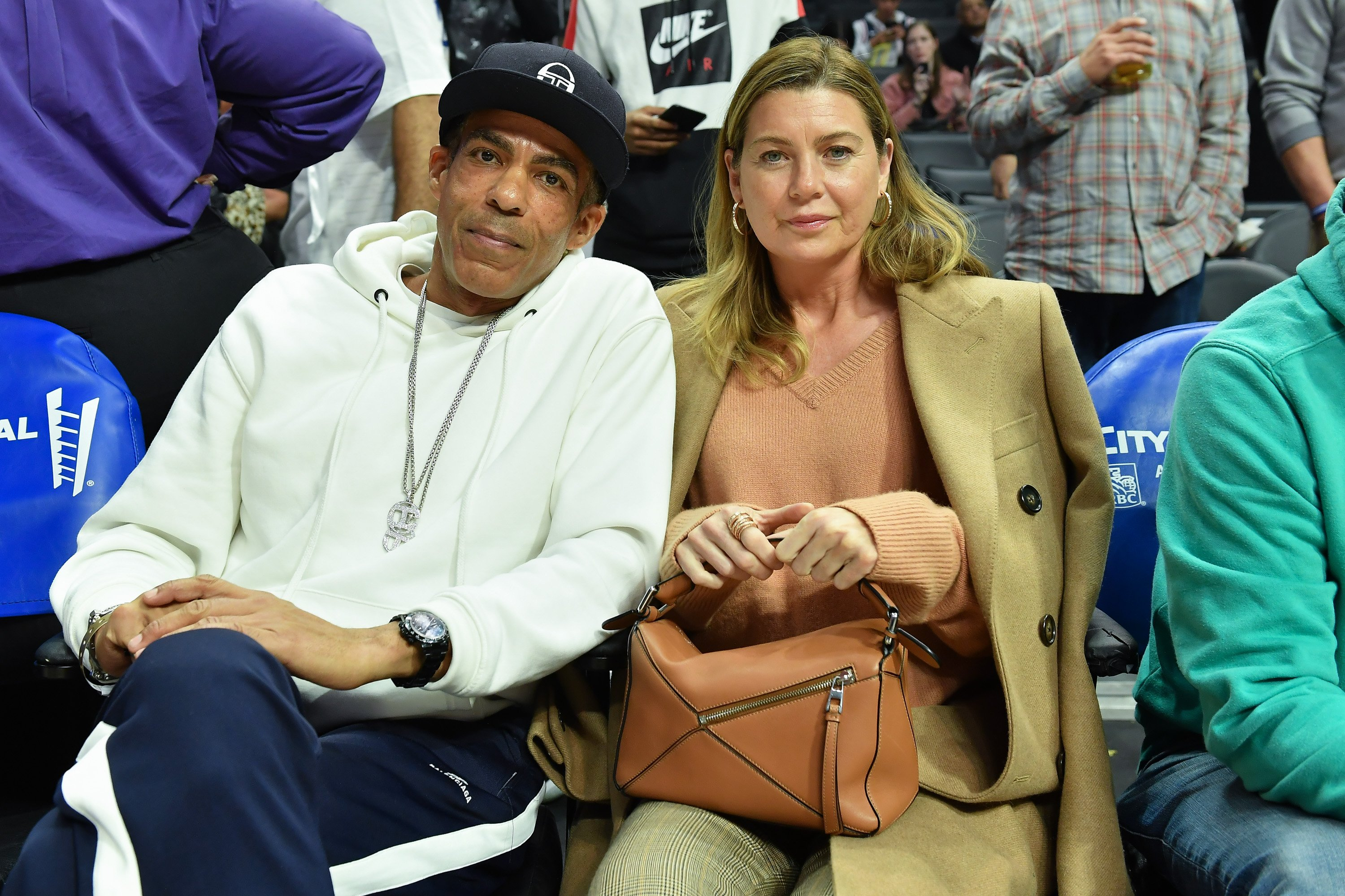 Ellen Pompeo and her husband enjoying an LA Clippers Game in January, 2020. | Photo: Getty Images.
