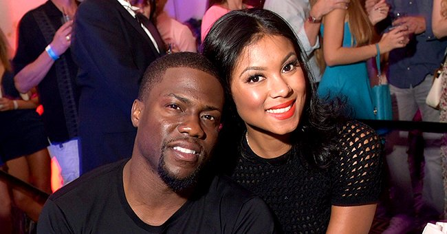 See Kevin Hart's Wife Eniko's Gorgeous Maternity Shoot Pictures Wearing a Long Rose-Colored Dress