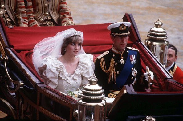 Princess Diana and Prince Charles at St. Paul's Cathedral July 29, 1981 in London | Photo: Getty Images