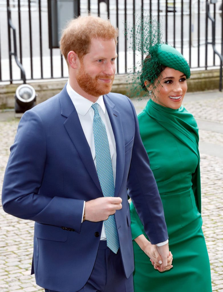 Prince Harry and Meghan Markle pictured attending the Commonwealth Day Service 2020 at Westminster Abbey, 2020, London, England. | Photo: Getty Images