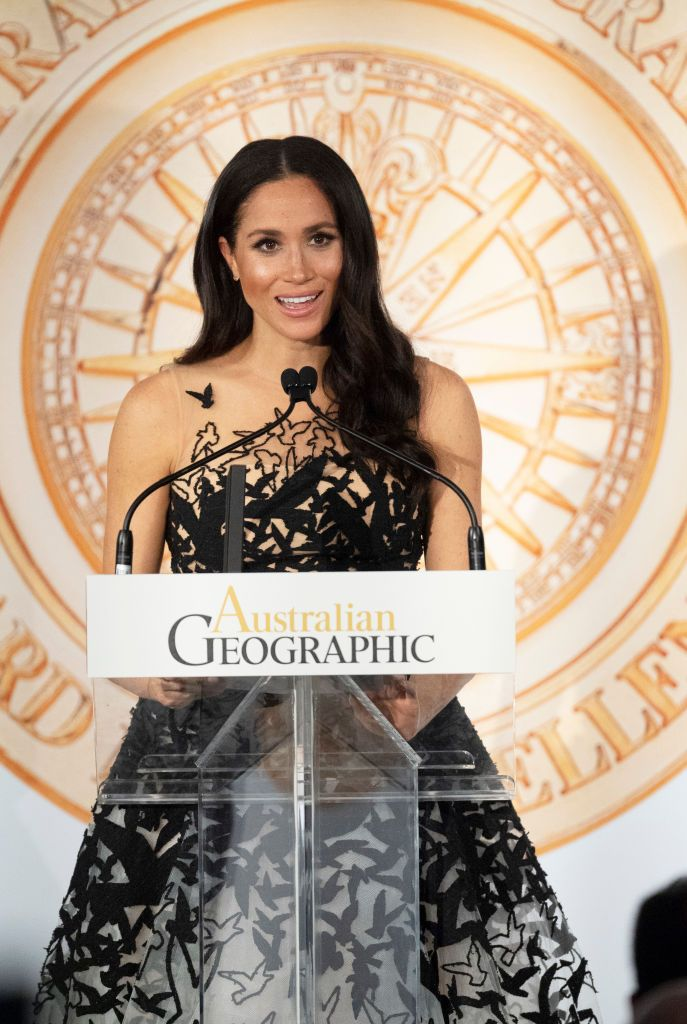 Duchess Meghan at the Australian Geographic Society Awards on October 26, 2018 | Photo: Getty Images