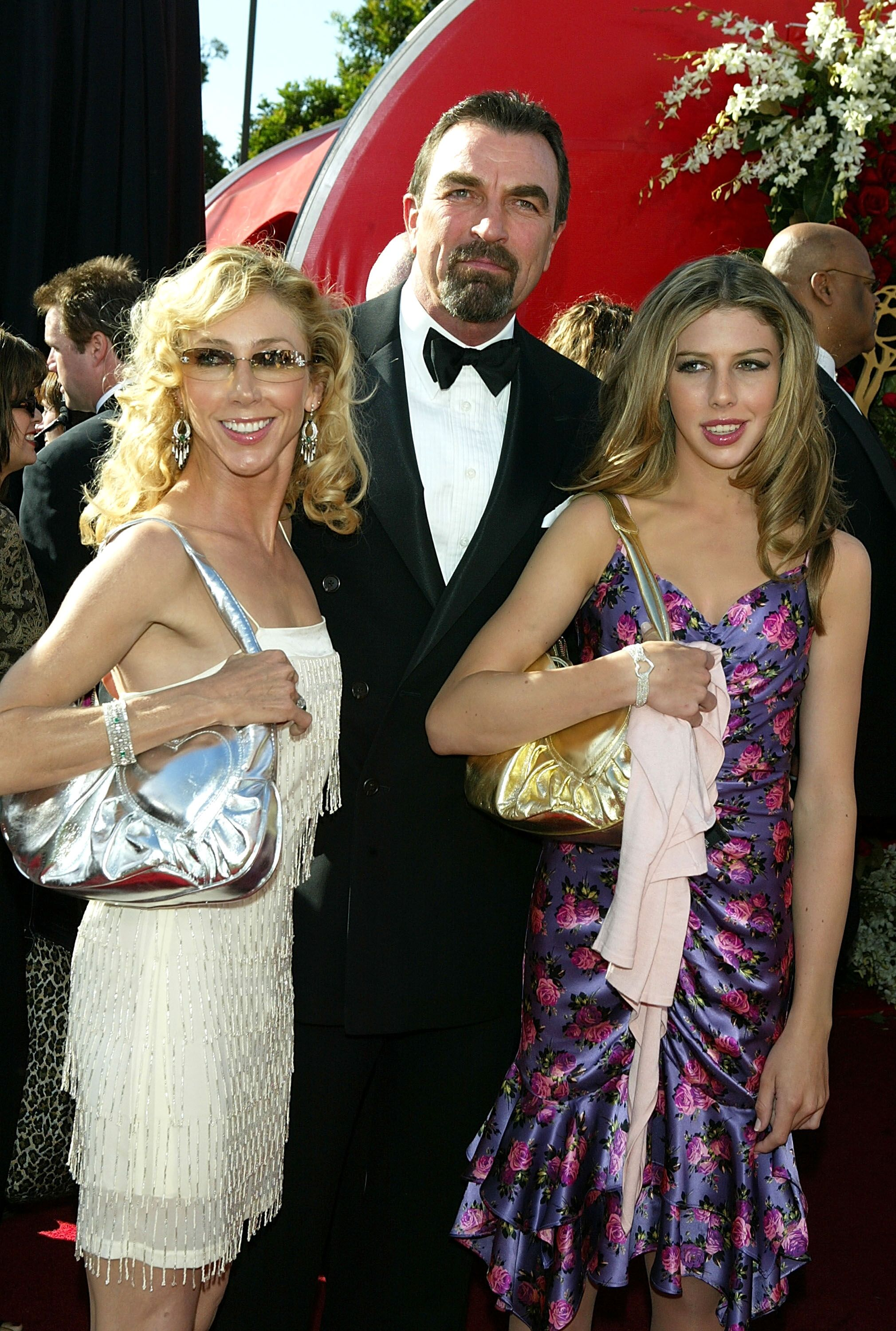 Tom Selleck with wife Jillie and daughter Hannah attends the 56th Annual Primetime Emmy Awards at the Shrine Auditorium | Getty Images / Global Images Ukraine