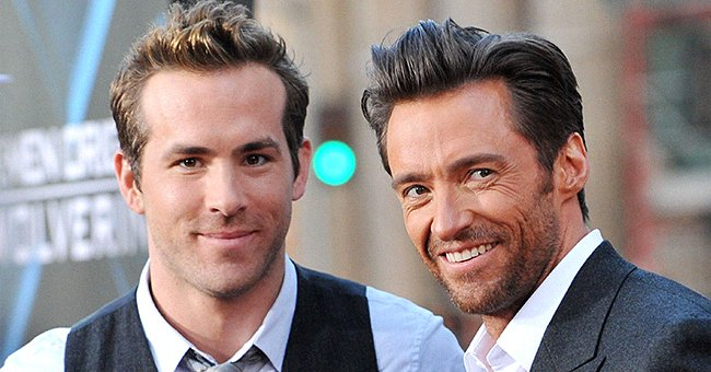 """Ryan Reynolds and Hugh Jackman arrive at the screening of 20th Century Fox's """"X-Men Origins: Wolverine"""" on April 28, 2009 in Hollywood, California. 