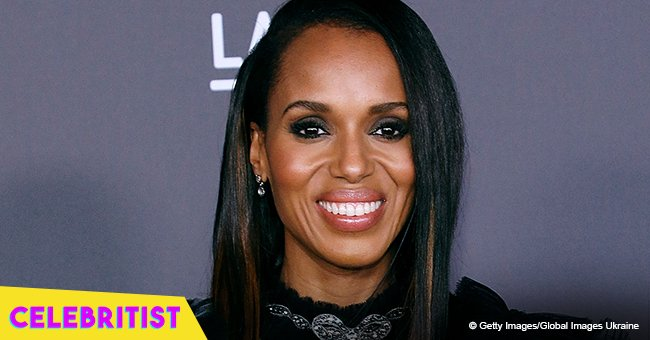 Kerry Washington stuns the crowd in plunging silver jumpsuit with shiny embellishments