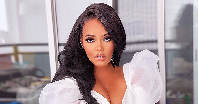 Angela Simmons Grabs Her Fans' Attention Posing in a Flashy White Outfit for a New Photo Shoot
