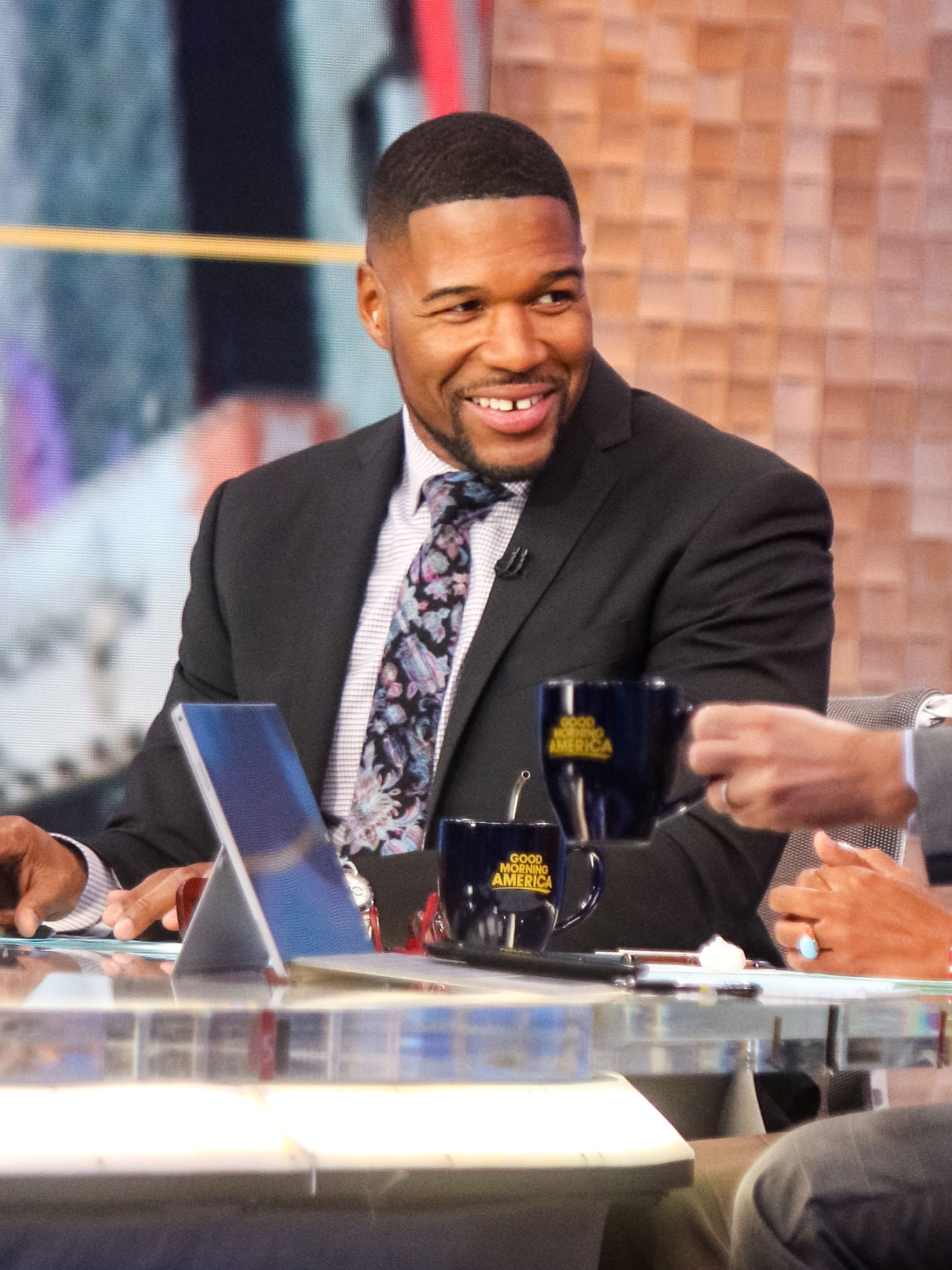 """Michael Strahan is seen at """"Good Morning America"""" on October 30, 2019 in New York City 