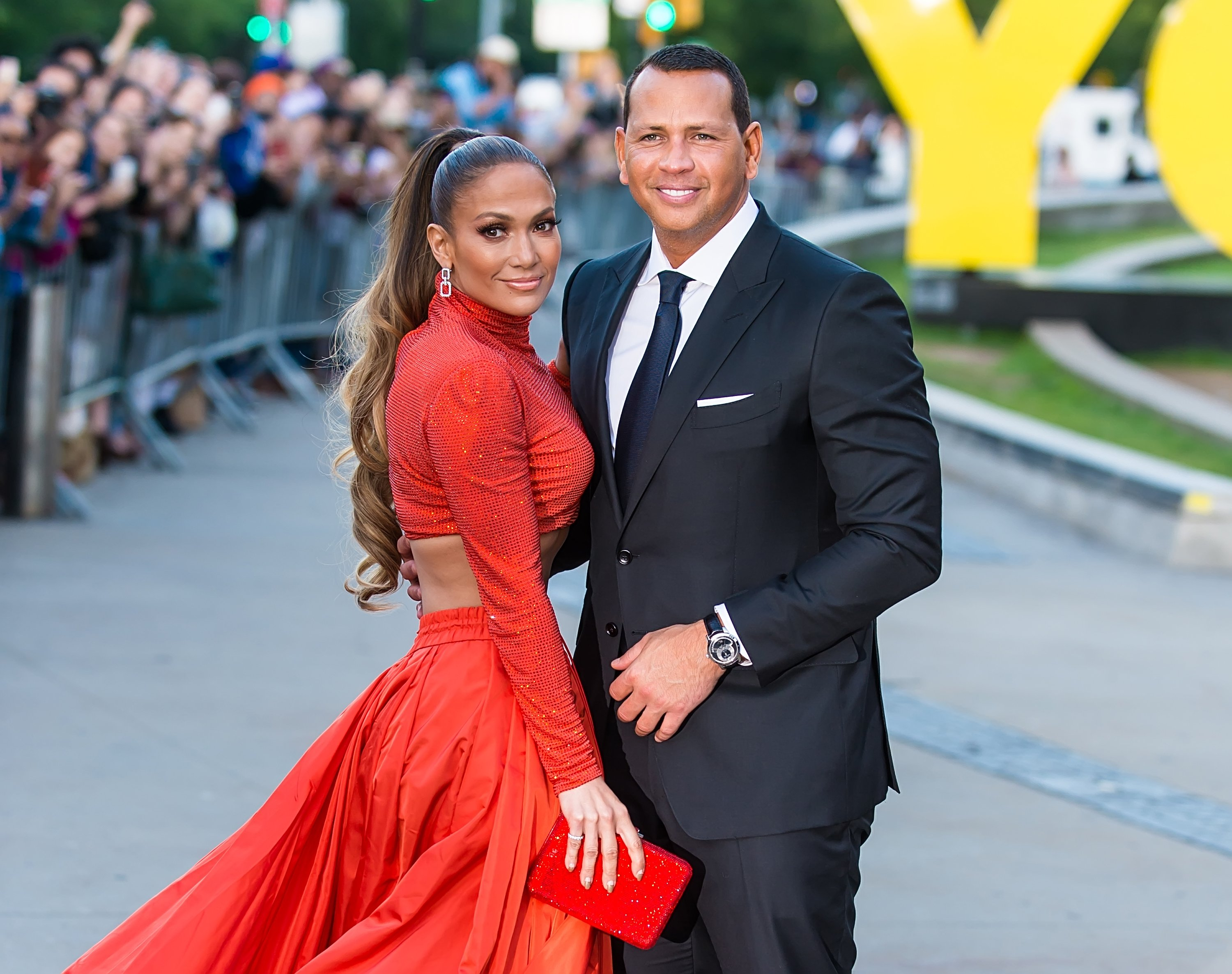 Jennifer Lopez and Alex Rodriguez arrive at the 2019 CFDA Fashion Awards on June 3, 2019, in New York City. | Source: Getty Images.