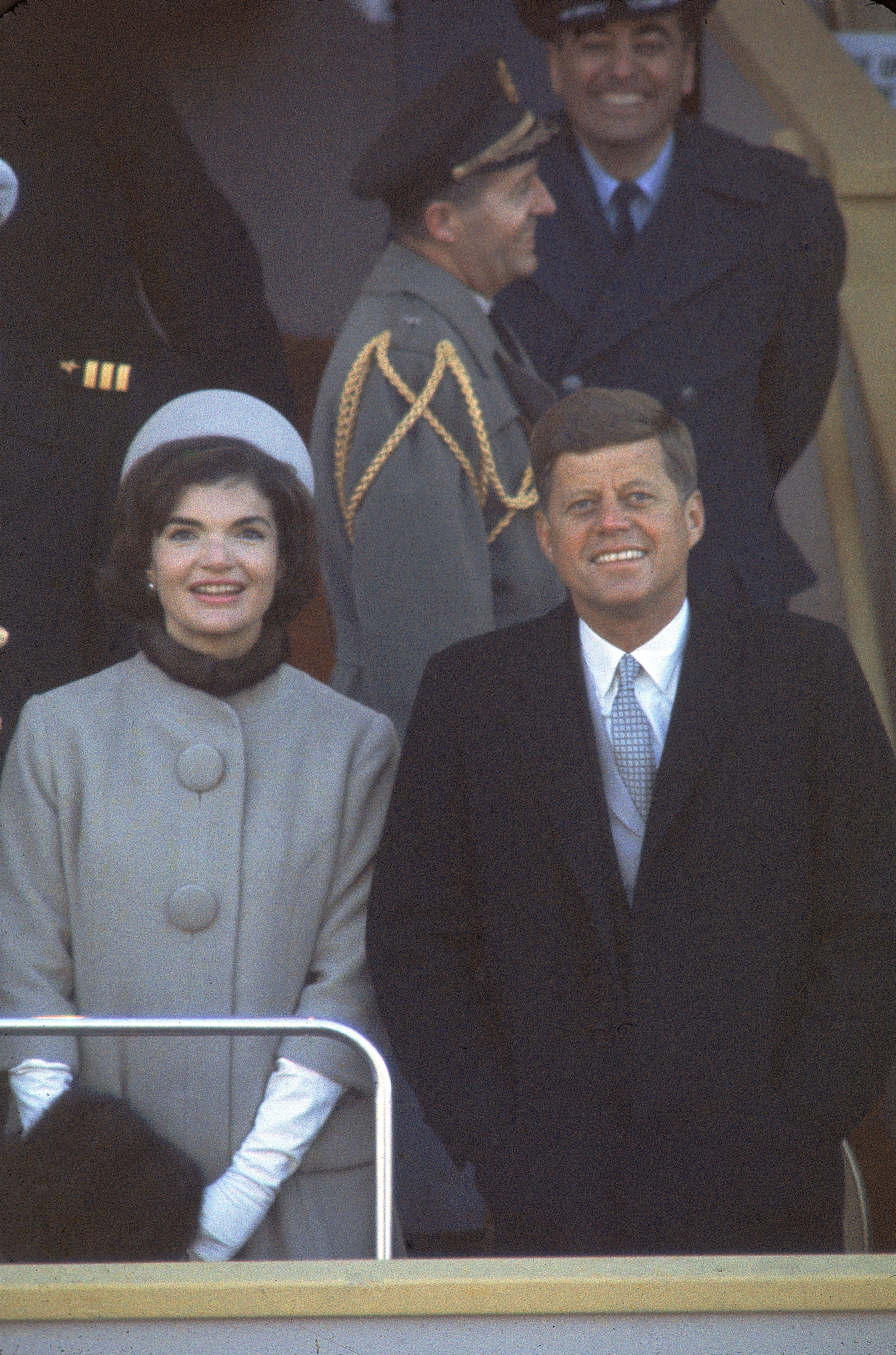 President John F. Kennedy and wife Jacqueline Kennedy attends his inauguration in the District of Columbia in 1961   Photo: Getty Images