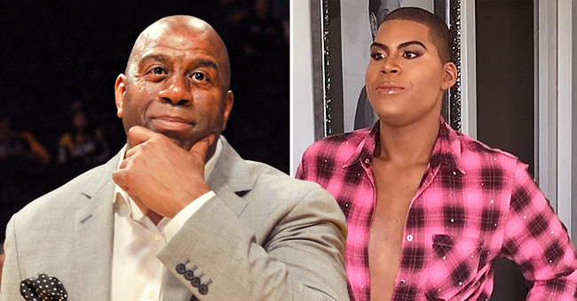 Magic Johnson's Son EJ Flaunts Physique in Fishnet Top and a Plaid Bralette in New Photos