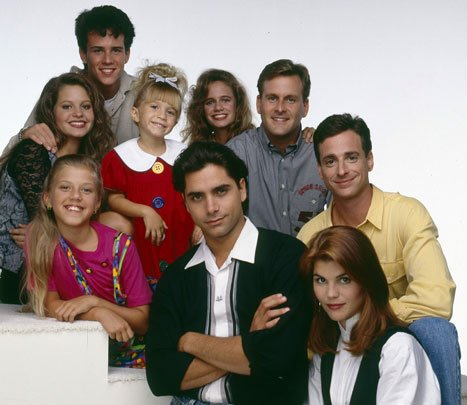 "The original cast of ""Full House"" than ran from 1985 to 1995. 