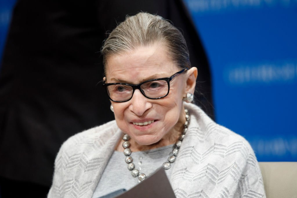 Justice Ruth Bader Ginsburg delivers remarks at the Georgetown Law Center. | Photo: Getty Images