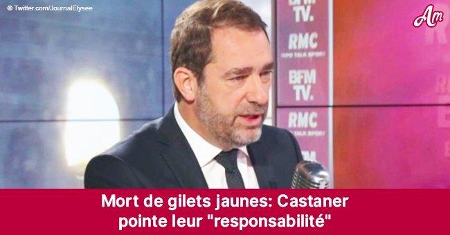 """Castaner affirme que les """"gilets jaunes"""" sont responsables de la mort des manifestants"""