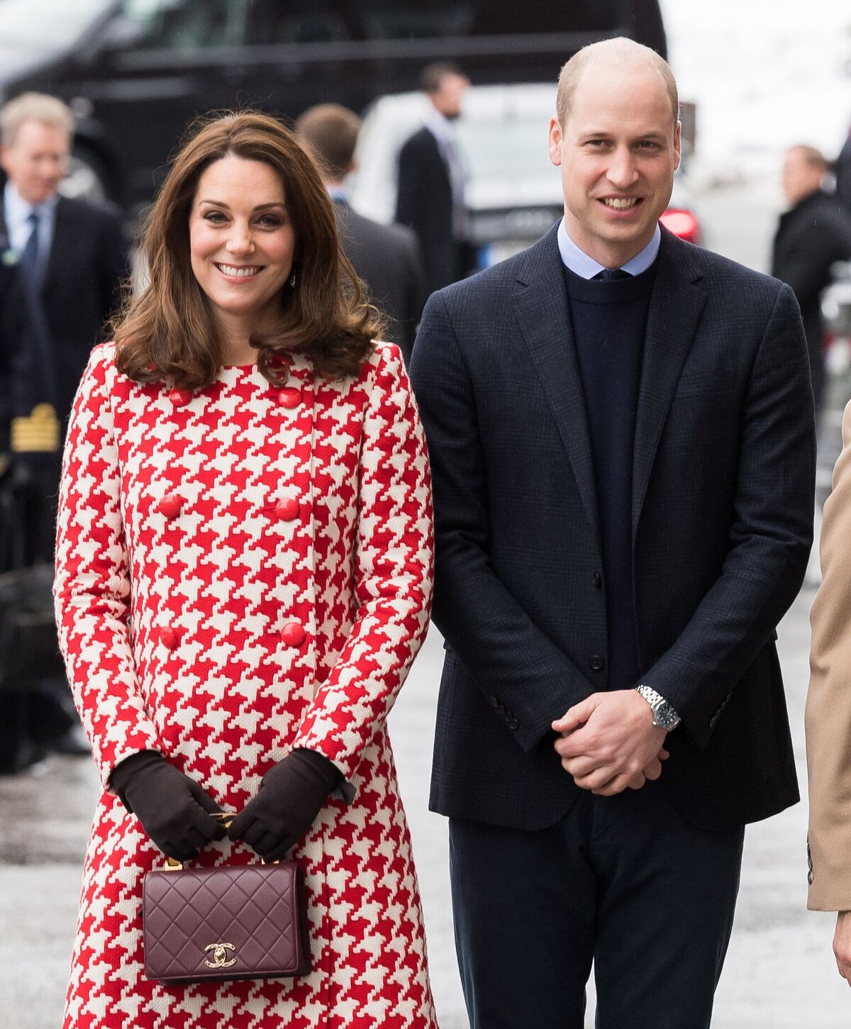Catherine, Duchess of Cambridge and Prince William, Duke of Cambridge a visit the Karolinska Institute to meet with academics and practitioners to discuss Sweden's approach to managing mental health challenges during day two of their Royal visit to Sweden and Norway on January 31, 2018   Photo: Getty Images