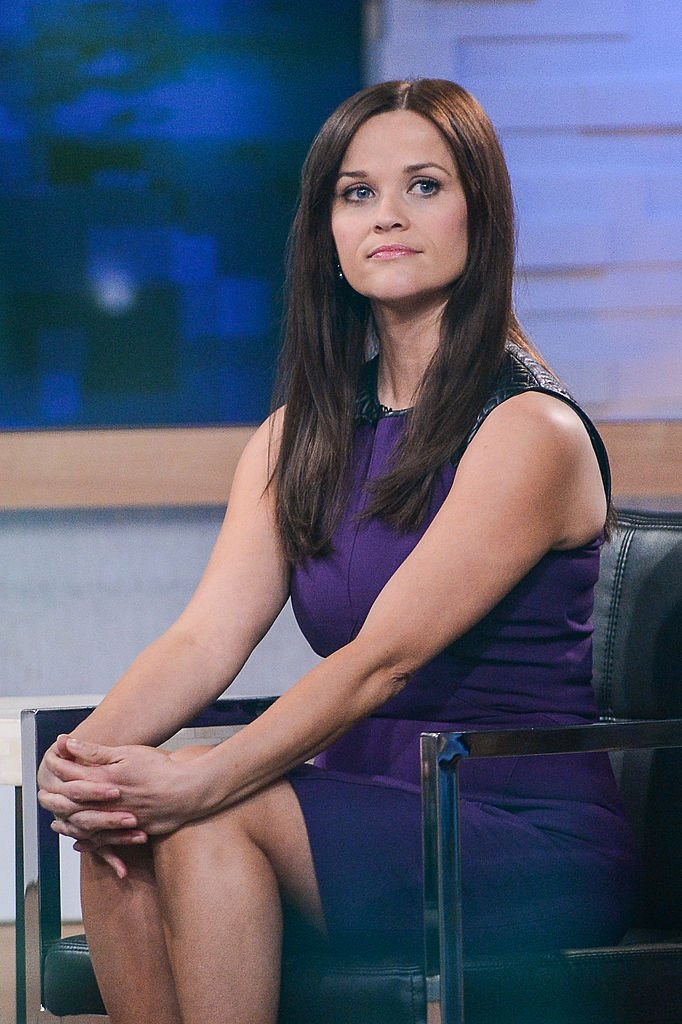 """Reese Witherspoon tapes an interview at """"Good Morning America"""" at the ABC Times Square Studios on May 2, 2013 in New York City. 
