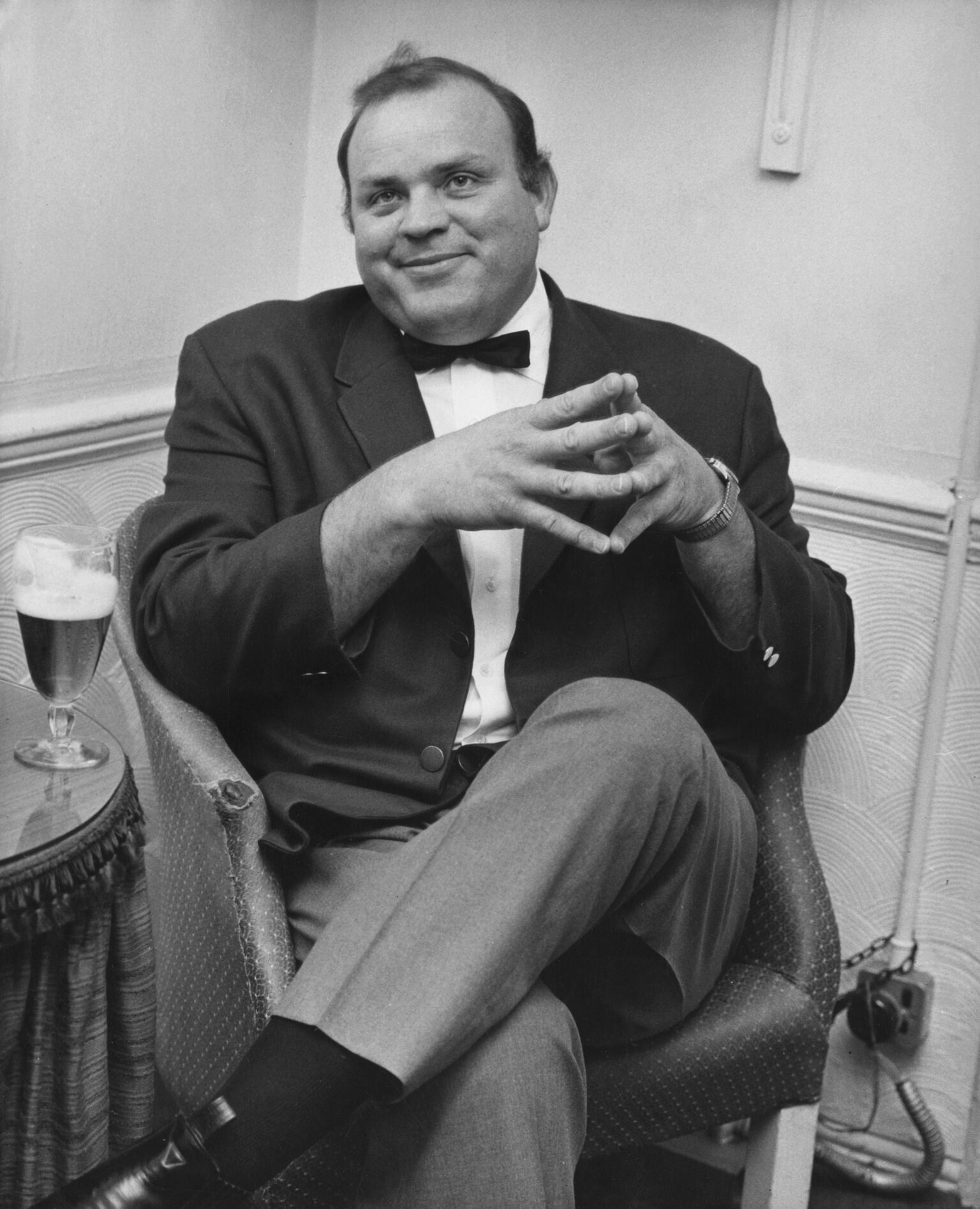 Dan Blocker in his dressing room at the London Palladium, 9th May 1966. | Getty Images / Global Images Ukraine