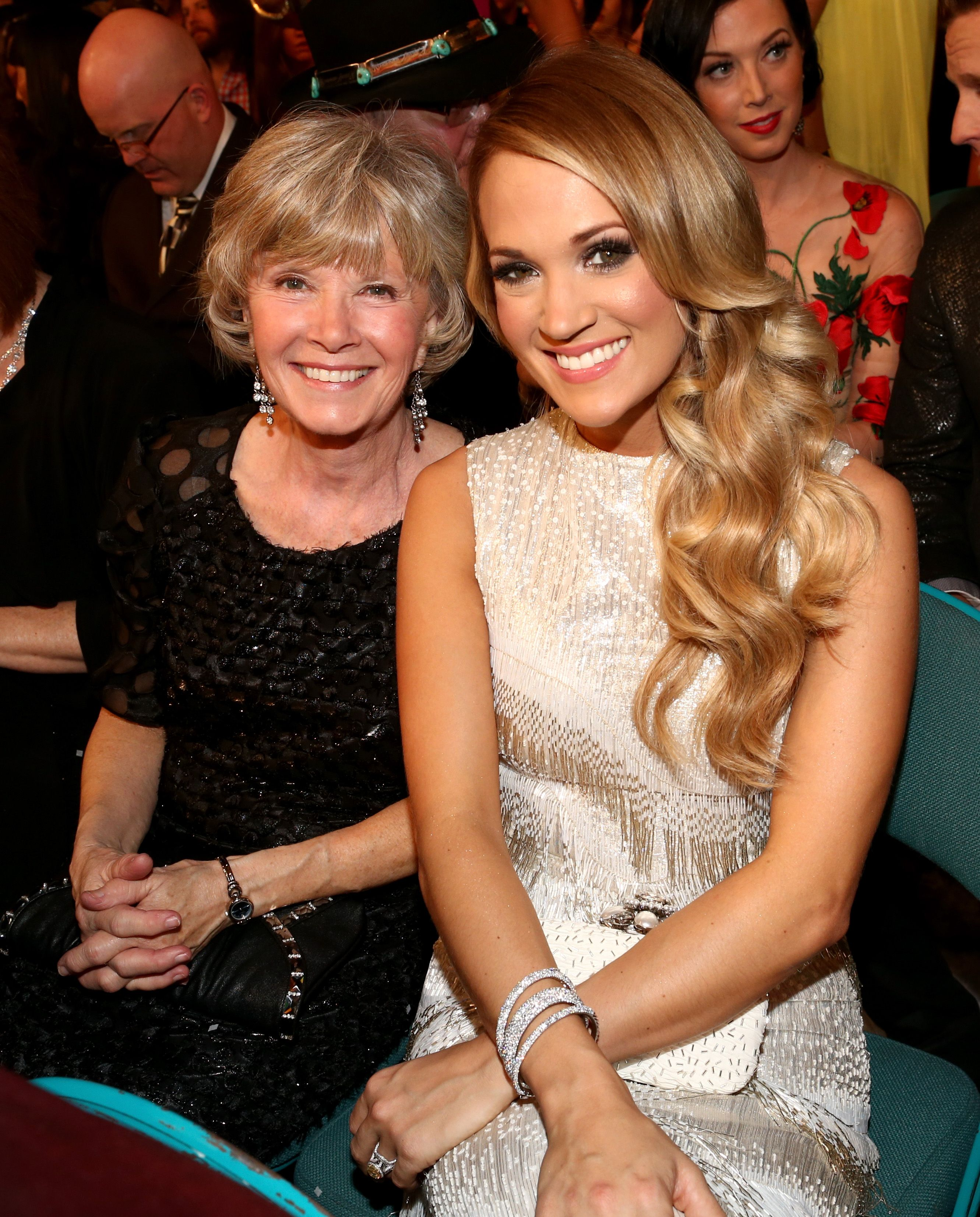 Carrie Underwood and Carole Underwood at the 49th Annual Academy of Country Music Awards at the MGM Grand Garden Arena on April 6, 2014 | Photo: Getty Images