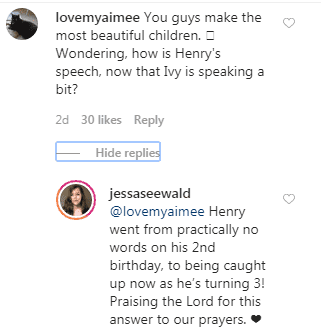 Jessa Duggar updates on her son Henry's speech delay on March 8, 2020. | Source: Instagram/jessaseewald.
