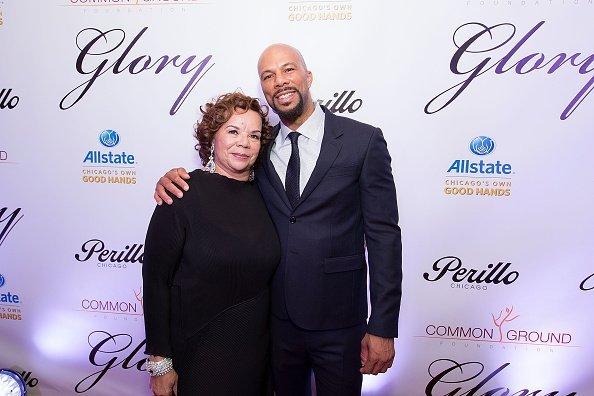 Mahalia Ann Hines and Common at Perillo Rolls Royce in Chicago, Illinois.| Photo: Getty Images.