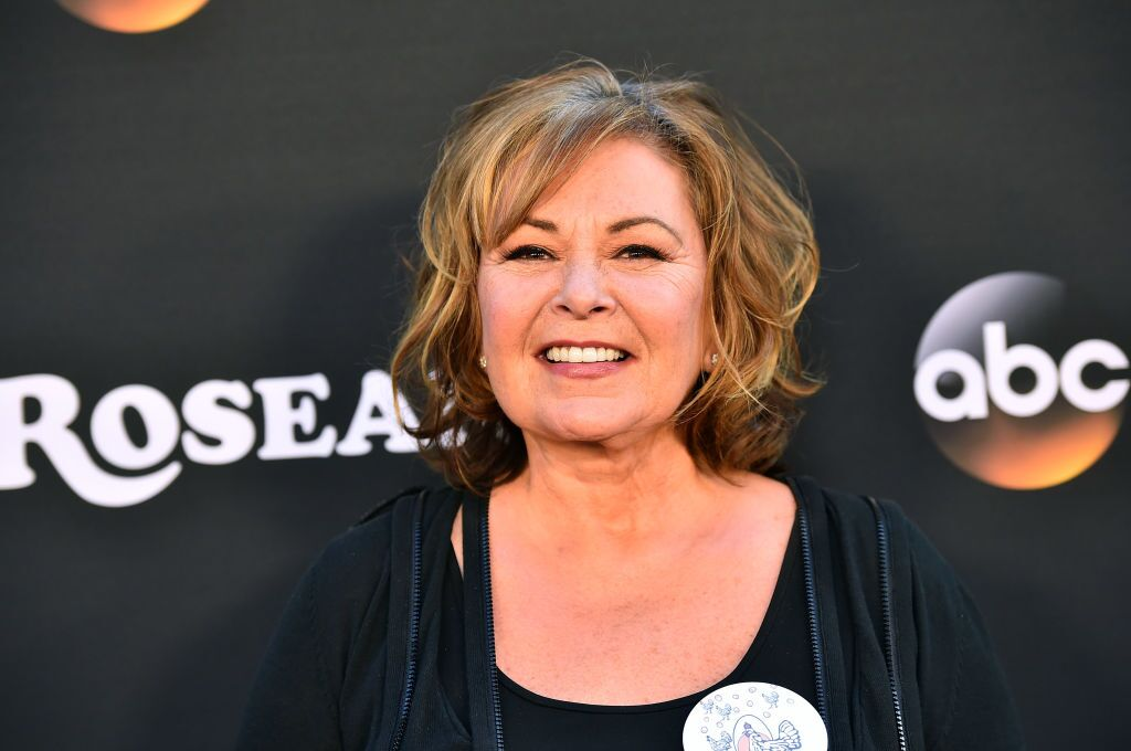 "Roseanne Barr attends the premiere of ABC's ""Roseanne"" at Walt Disney Studio Lot on March 23, 2018 in Burbank, California 