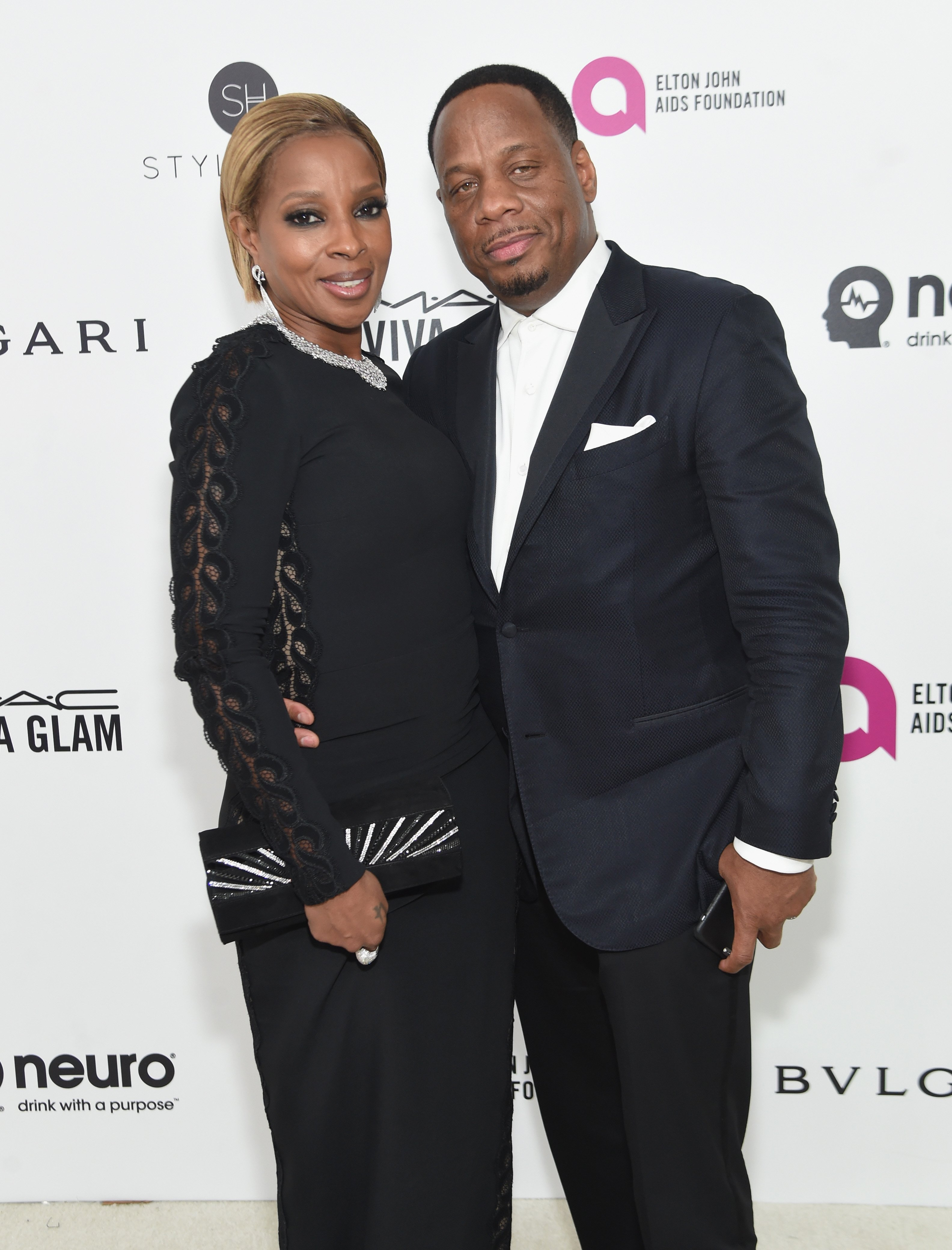 Mary J. Blige and Kendu Isaacs attend the 24th Annual Elton John AIDS Foundation's Oscar Viewing Party on February 28, 2016. | Photo: GettyImages
