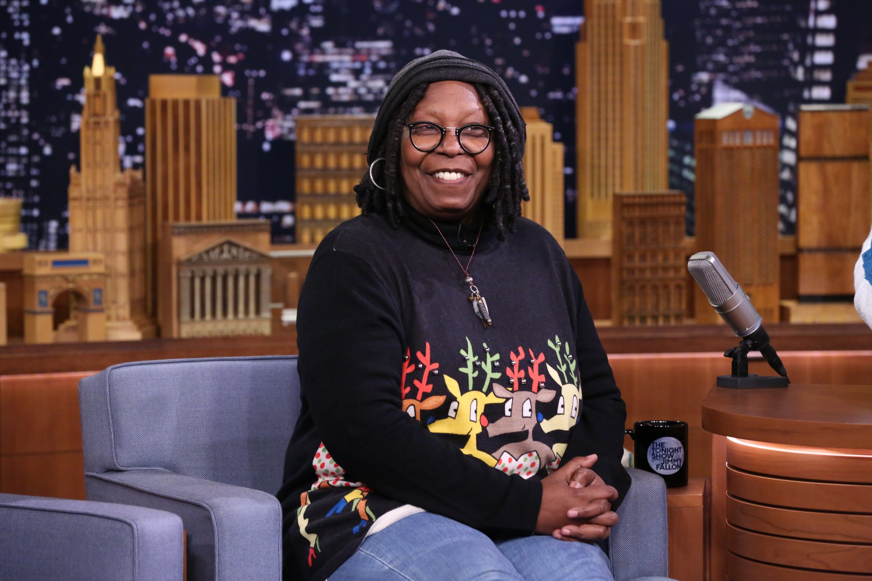 """Whoopi Goldberg pictured on """"The Tonight Show Starring Jimmy Fallon"""" in 2016.   Photo: Getty Images"""