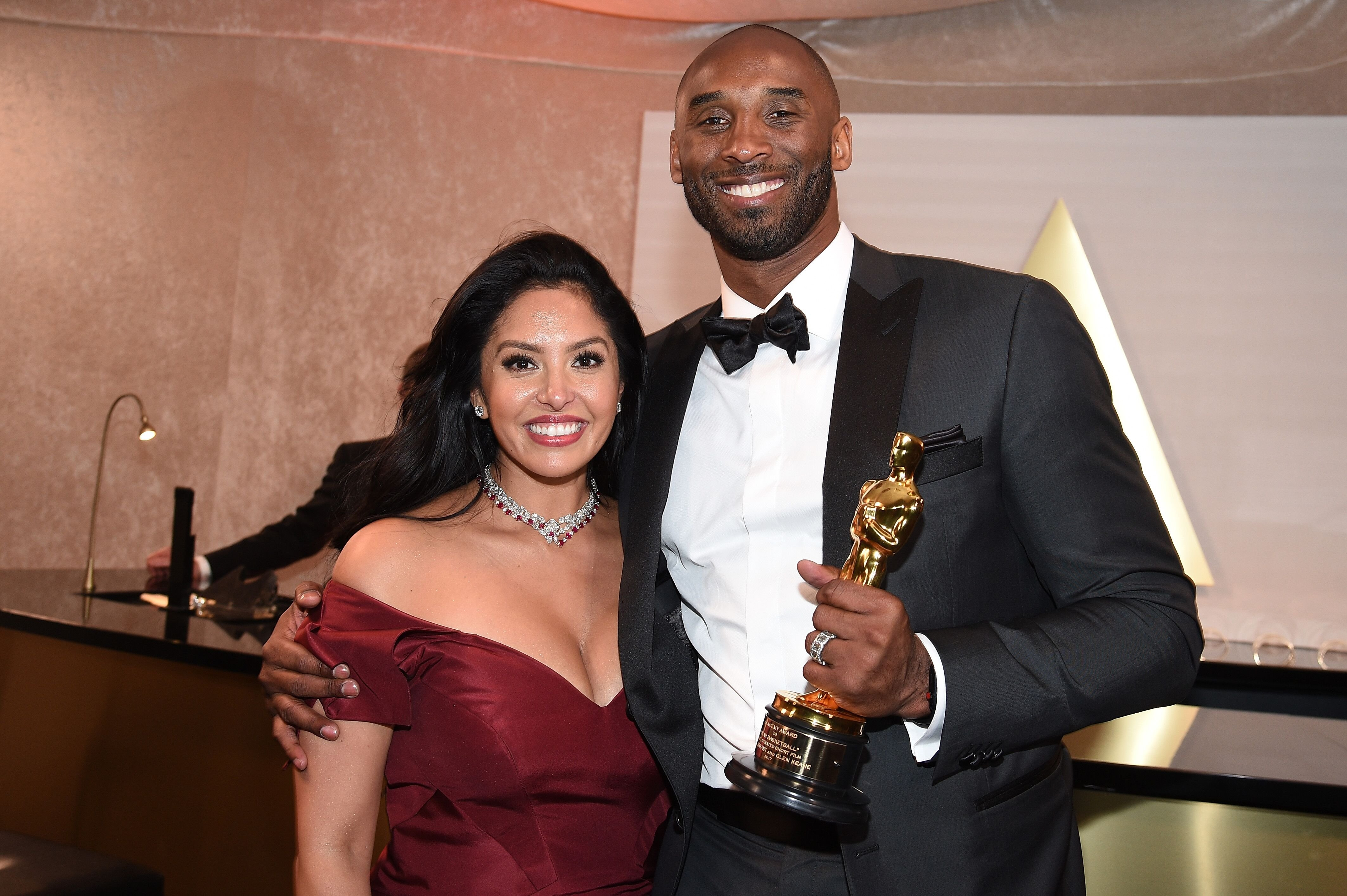 Kobe Bryant and wife Vanessa at the 90th Annual Academy Awards Governors Ball/ Source: Getty Images