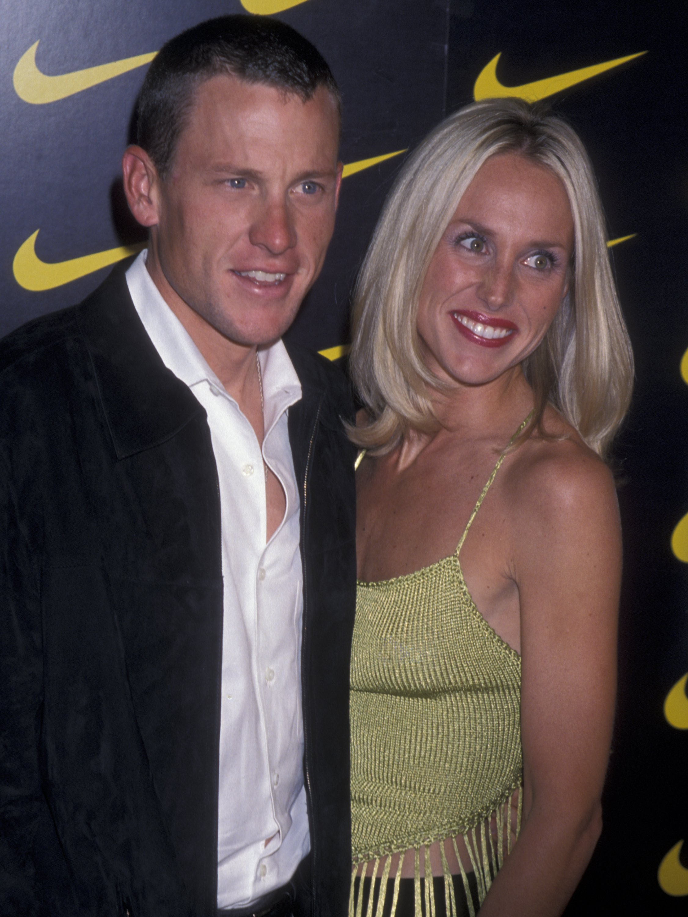 """Lance Armstrong and Kristin Richard attend the premiere of """"Lantana"""" on November 6, 2001 