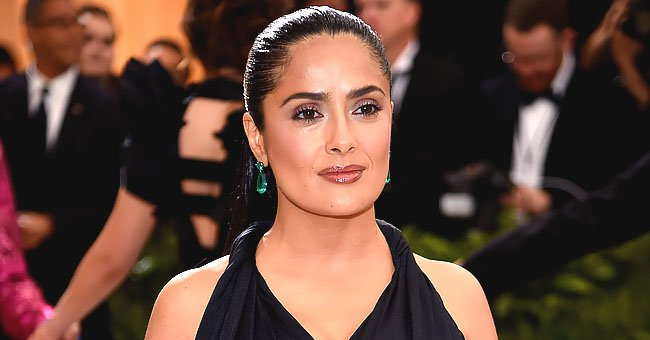 See Salma Hayek Steal the Show with Her Eye-Catching Dirndl in an Old Clip