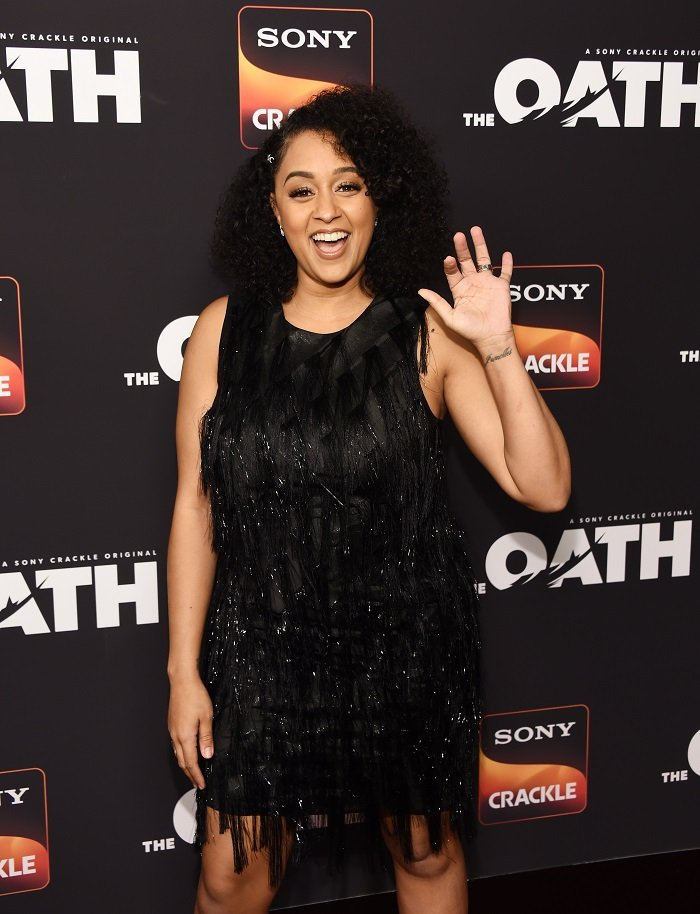 "Tia Mowry at Sony Crackle's ""The Oath"" Season 2 exclusive screening event on Feb. 20, 2019 in Los Angeles 