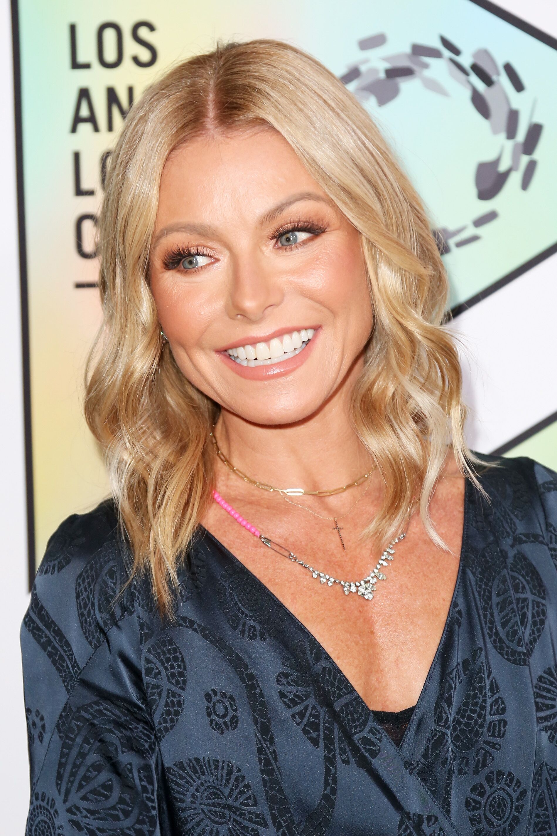 Kelly Ripa arrives at the Los Angeles LGBT Center's 49th Anniversary Gala.   Source: Getty Images