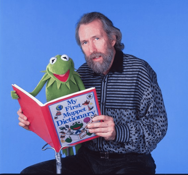 Jim Henson and one of his creations, Kermit the Frog, New York, New York, January 4, 1988   Photo: Getty Images