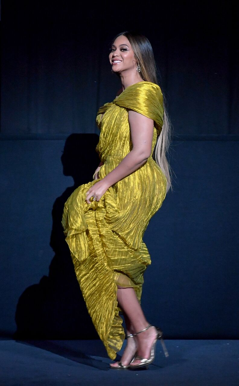 "Beyonce Knowles-Carter at the European premiere of ""The Lion King."" 