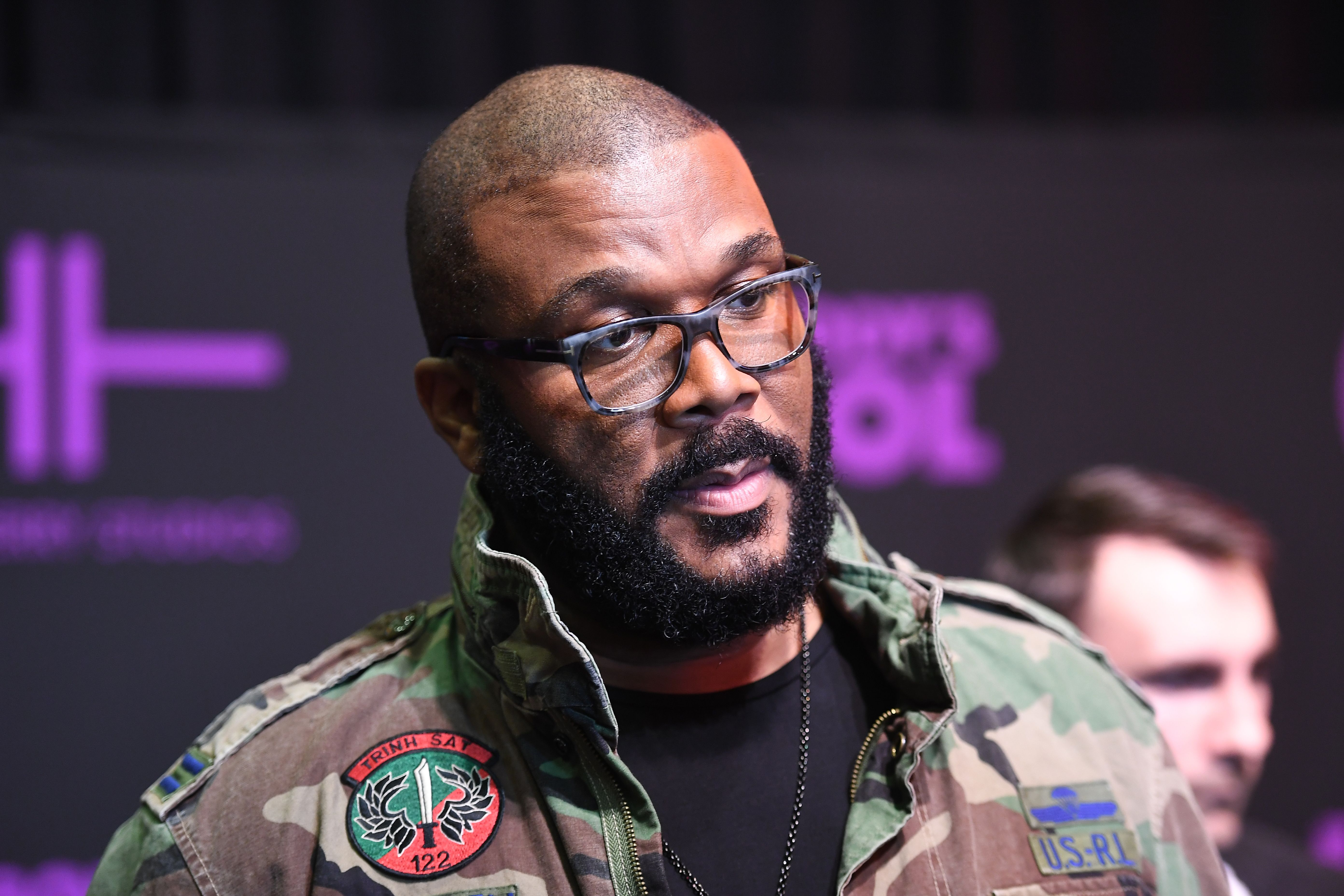 """Tyler Perry attends the """"Nobody's Fool"""" Atlanta screening at Regal Atlantic Station on November 1, 2018. 