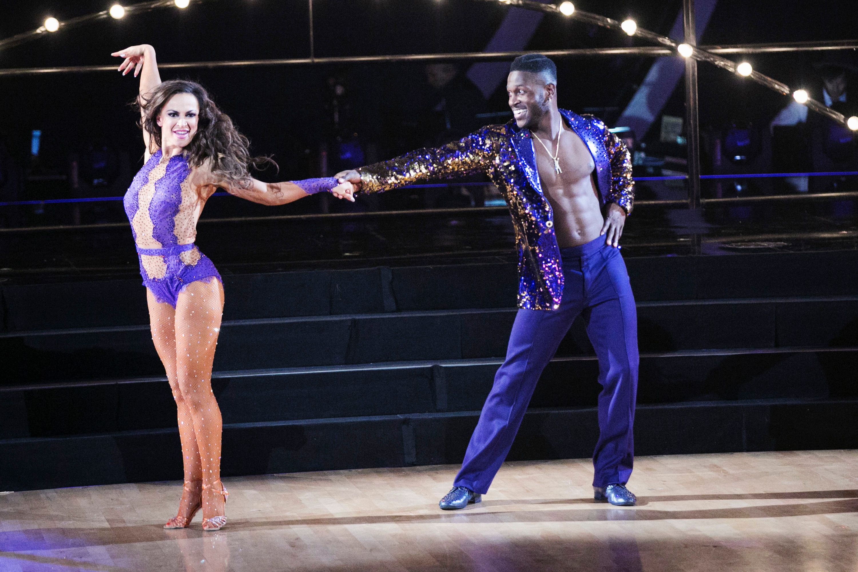 """Karina Smirnoff and Antonio Brown on """"Dancing With The Stars"""" in 2016   Source: Getty Images"""