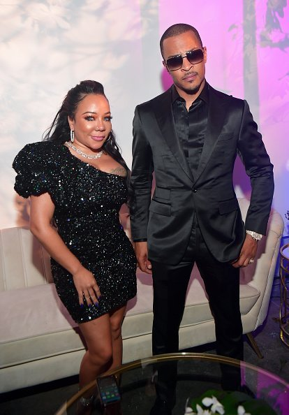 Tameka Harris and T.I. at the Forever or Never Birthday Celebration on November 21, 2019 | Photo: Getty Images