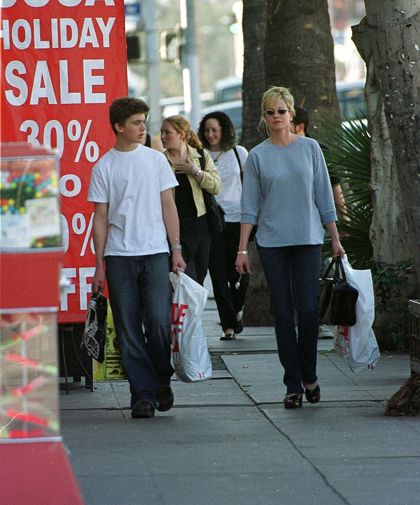Actress Melanie Griffith shops with her son, Alexander on Melrose Avenue | Getty Images