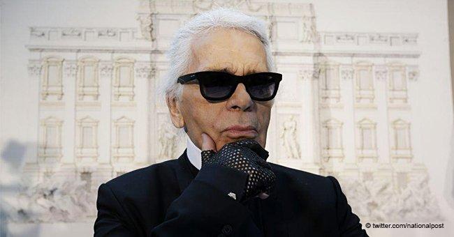 """Feu Karl Lagerfeld utilisait un accessoire de sa tenue """"pour taper sur les gens qui l'agaçaient"""""""