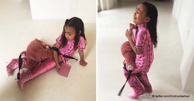 Kim Kardashian Shares North's Meltdown after She Wasn't Allowed to Wear Mom's $775 Boots