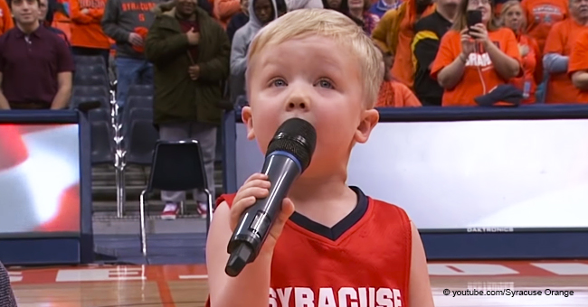 Little Boy Stuns the Audience with His Heartfelt Performance of the National Anthem