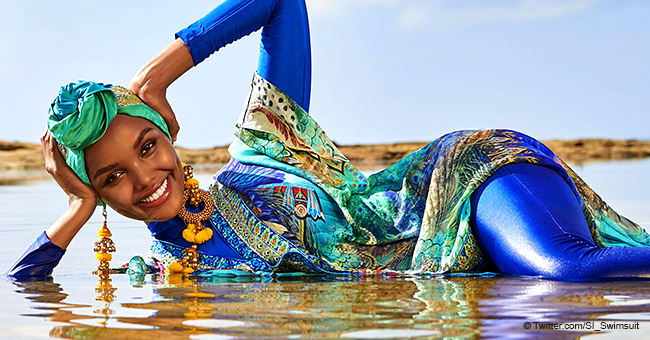 Sports Illustrated Features First Model in Hijab & Burkini