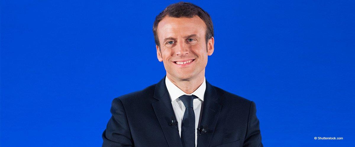 Un retraité percevant un minimum vieillesse fond en larmes dans les bras d'Emmanuel Macron