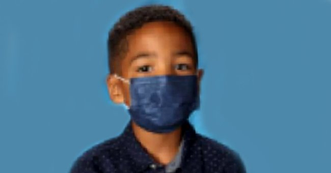 6-year-old Mason Peoples wearing a mask in his school photo.   Source: facebook.com/nicole.tucker.311