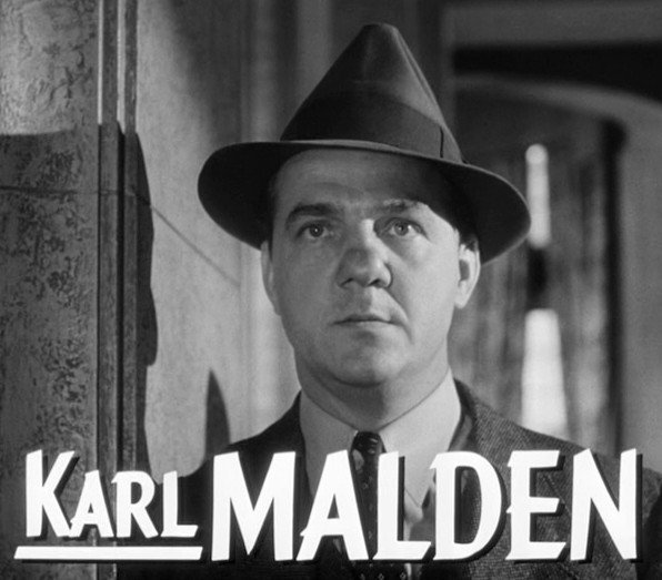 "Karl Malden from the trailer of ""I Confess."" 