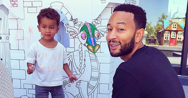 John Legend and His Son Miles Color Big Paper Castle in an Adorable Photo