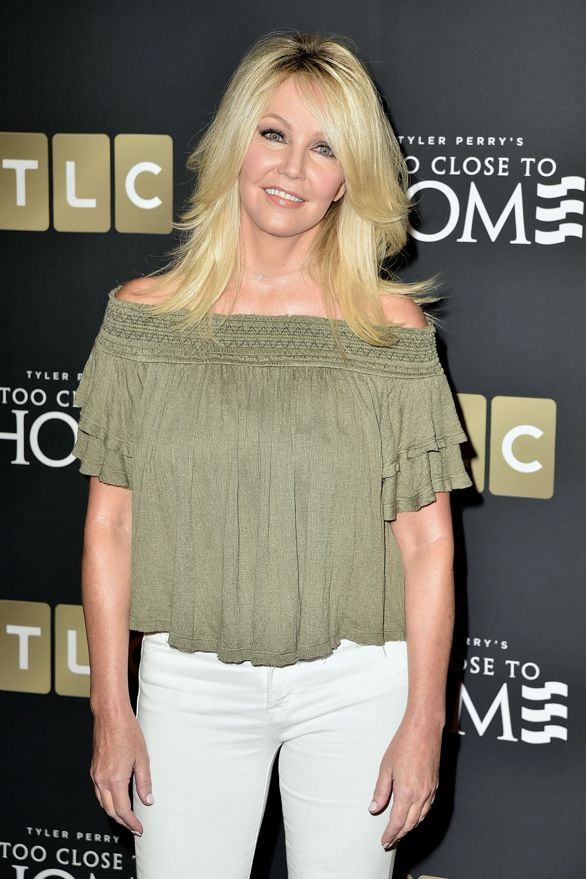"""Heather Locklear attends the screening of """"Too Close To Home"""" on August 16, 2016, in Beverly Hills, California.   Source: Getty Images."""